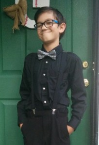 AJ on School Picture Day, channeling his inner Dr. Who.